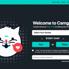 Camgo offers a socially distanced way to meet new people
