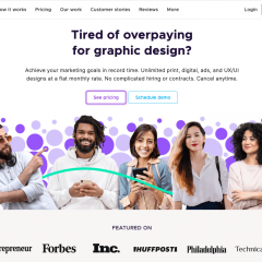 Penji offers unlimited graphic design work for one monthly rate