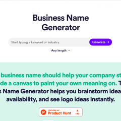 Find the perfect name for your business with the Business Name Generator by Looka